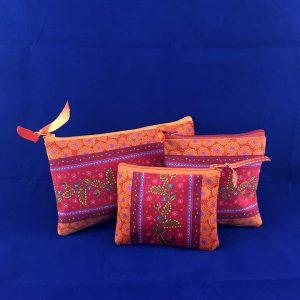 Pochettes velours – Frise Orange