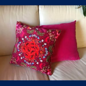 Coussin Poppy rouge